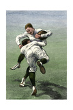 Low Tackle: Yale Football Team in a Practice Game, 1880s Photographic Print