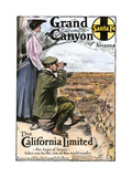 "Ad for Visiting the Grand Canyon Aboard the ""California Limited,"" Santa Fe RR, 1908 Giclee Print"