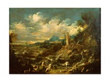 Landscape With Stormy Sea Giclée-tryk af Alessandro Magnasco