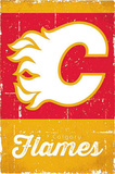 Calgary Flames Retro Logo Photo