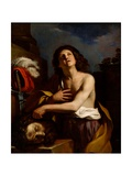 David With the Head of Goliath Lámina giclée por  Guercino
