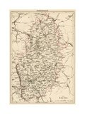 Map of Nottinghamshire, England, 1870s Giclee Print