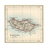 Map of the Island of Madeira, 1870s Giclee Print