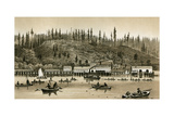 Salmon Cannery on the Columbia River in Oregon, 1880s Photographic Print