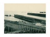 Ore Docks on Lake Superior, Marquette, Michigan, 1890s Giclee Print