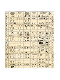 Table Comparing Hieroglyphic and Ancient Alphabet Characters - Chaldaic, Phoenician, and Sumerian Giclee Print