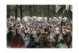 Methodist Camp-Meeting at Sing-Sing, New York, 1868 Photographic Print