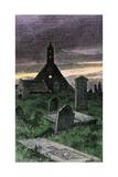 Graveyard of the Old Church in Boyndie Parish, Scotland, 1800s Photographic Print