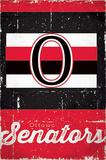 Ottawa Senators Retro Logo Posters