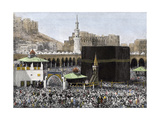 Islamic Pilgrims Around the Kaaba in the Mecca Mosque, 1890s Giclee Print