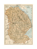 Map of Lincolnshire, England, 1870s Giclee Print