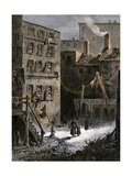 Immigrant Tenements in Donovan Lane near Five-Points, New York City, 1870s Giclee Print