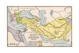 Map Showing the Divisions of the Empire of Alexander the Great After His Death Fotografie-Druck