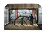 "Pilot House of Mississippi Riverboat ""Great Republic,"" 1870s Giclee Print"