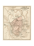 Map of the City of Jerusalem, 1870s Impressão giclée