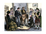 Patients Vaccinated Against Smallpox with Live Virus From a Calf, 1872 Giclee Print