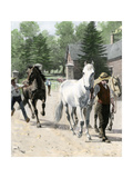 Exercising Some Trotting Champion Mares at Woodburn Farm, Kentucky, 1890s Giclee Print