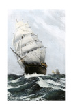Clipper Ship Caribee, Famous for Speed, Built in Maine in 1852 Photographic Print