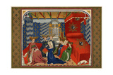 Christine De Pisan Presenting Her Book to Isabel of Bavaria, Queen of Charles VI of France Photographic Print