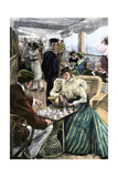 Passengers' Afternoon Recreation on the Deck of a P & O Steamship Circa 1900 Photographic Print