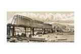 New Bridge Across the Willamette River at Portland, Oregon, 1880s Photographic Print