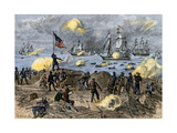Stonington CT Bombarded by British Fleet, War of 1812 Giclee Print