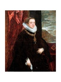 Lady in Black Giclée-tryk af Domenico Tintoretto