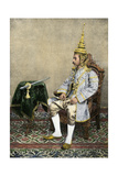 Rama V (Chulalongkorn), King of Siam, in His Royal Attire, Circa 1900 Photographic Print