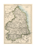 Map of Northumberland, England, 1870s Giclee Print
