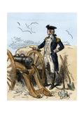 General Washington on Dorchester Heights Seeing British Leave Boston, 1776 Giclee Print