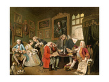 The Marriage Settlement, England, 1700s Giclee Print