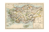Map of the Ancient Regions of Asia Minor Photographic Print