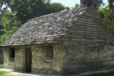 Slave Cabin Built of Tabby (Oystershells and Lime) at Kingsley Plantation on St. John's River, FL Photographic Print
