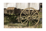 Detail of a Restored Covered Wagon at Scotts Bluff National Monument on Oregon Trail in Nebraska Photographic Print