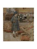 A Militia Woman Giclee Print by Alexander Ivanovich Vakhrameyev