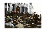An Argument Before the US Supreme Court, Chief Justice White Presiding, 1910 Photographic Print