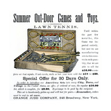 Ad for Lawn Tennis and Croquet Game Set, 1880 Giclee Print