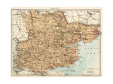 Map of Essex, England, 1870s Giclee Print