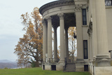 Vanderbilt Mansion Overlooking the Hudson River in Hyde Park NY Photographic Print