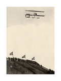 Paulhan in a Farman Biplane Makes a Record Altitude of 4,165 Feet, Los Angeles, 1910 Giclee Print