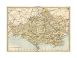 Map of Dorset, England, 1870s Giclee Print