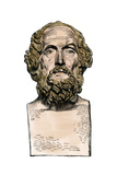 Bust of the Greek Poet Homer Photographic Print