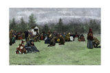 Open-Air Sacrament in a Rural American Setting, 1800s Photographic Print