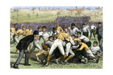 Thankgiving-Day Football Match Between Yale and Princeton, 1879 Photographic Print