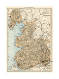 Map of Lancashire, England, 1870s Giclee Print