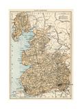 Map of Lancashire, England, 1870s Giclee Print