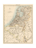 Map of Holland, 1870s Giclee Print