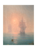 Corvette in the Mist Giclee Print by Ivan Konstantinovich Aivazovsky