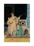 Two Musician Girls Giclee Print by Osman Hamdi Bey