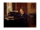 Portrait of the Composer Anton Rubinstein (1829-1894) Giclee Print by Mikhail Mikhailovich Yarovoy